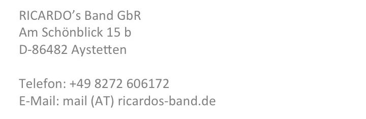 Hochzeitsband Bayern RICARDO's Band